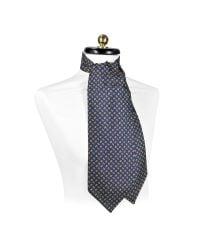 FORZIERI | Green Mini Paisley Print Silk Ascot for Men | Lyst