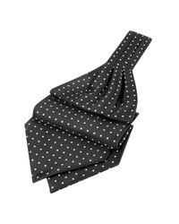 FORZIERI | Black Polkadot Printed Twill Silk Ascot for Men | Lyst