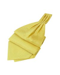 FORZIERI | Mini Polkadot Yellow Silk Ascot for Men | Lyst