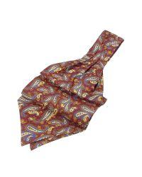 FORZIERI | Purple Paisley Print Twill Silk Ascot for Men | Lyst
