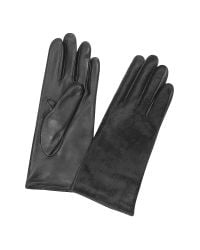 FORZIERI | Women's Black Pony Hair And Italian Nappa Leather Gloves | Lyst