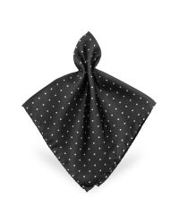FORZIERI | Black Polkadot Twill Silk Pocket Square for Men | Lyst