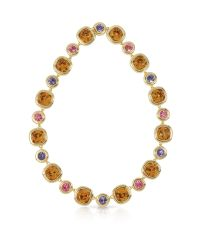 Forzieri   Purple Pink And Orcher Crystals Necklace   Lyst