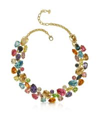 FORZIERI | Multicolor Crystal And Metal Necklace | Lyst