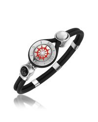 FORZIERI | Metallic Rudder & Compass Stainless Steel And Rubber Bracelet for Men | Lyst