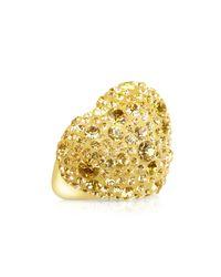 Gisèle St.moritz   Metallic Fantasmania - Gold Crystal Big Heart Ring   Lyst