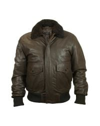FORZIERI - Men's Dark Brown Chevrette Two-pocket Jacket W/fur Collar for Men - Lyst