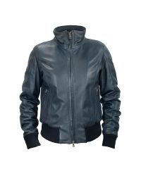 FORZIERI | Women's Blue Leather Motorcycle Jacket | Lyst