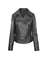 FORZIERI   Black Asymmetric Zip Leather Jacket   Lyst