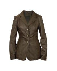FORZIERI | Women's Dark Brown Leather Three-button Jacket | Lyst