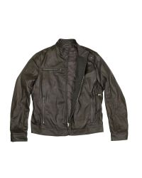 FORZIERI - Men's Dark Brown Leather Motorcycle Jacket for Men - Lyst