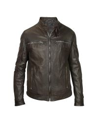 FORZIERI | Men's Dark Brown Leather Motorcycle Jacket for Men | Lyst