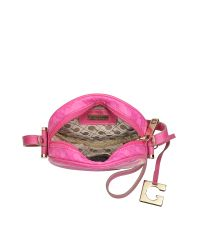 Gherardini - Pink Lupita Small Round Crossbody Bag - Lyst