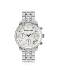 Michael Kors | Metallic Silver Jet Set Watch | Lyst