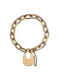 Michael Kors | Metallic Chains & Elements Golden Link Bracelet | Lyst