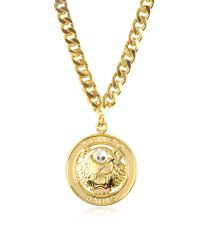 KENZO | Multicolor Gilt Tiger Cyclop Necklace | Lyst