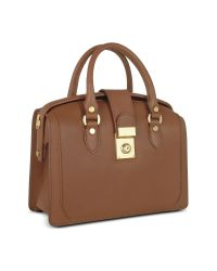 L.A.P.A. | Brown Italian Leather Doctor Bag | Lyst