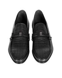 Loriblu - Black Croco Print Leather Moccasin for Men - Lyst