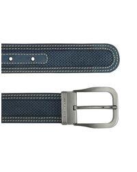 Moreschi - Black Men's Beige Perforated Leather Belt for Men - Lyst