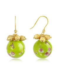 Naoto - Green Alchimia - Round Gold Foil Drop Earrings - Lyst