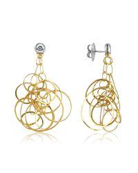 Orlando Orlandini - Metallic Scintille - Small Diamond 18k Gold Drop Earrings - Lyst