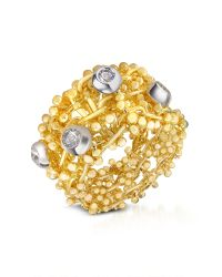 Orlando Orlandini | Diamond 18k Yellow Gold Band Ring | Lyst