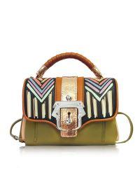 Paula Cademartori   Dun Dun Multicolor Leather Satchel   Lyst
