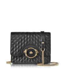 Roberto Cavalli | Star Black Quilted Nappa Leather Shoulder Bag | Lyst