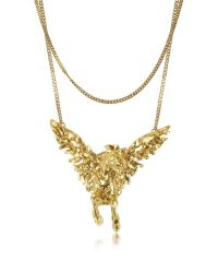Roberto Cavalli - Metallic Pegaso Metal Necklace - Lyst