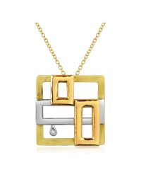 Torrini | Metallic Cubisme Diamond 18k Gold Pendant Necklace | Lyst
