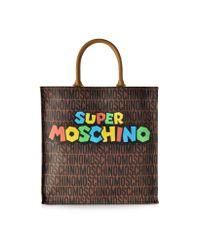 Moschino - Brown Super Mario Multicolor Printed Tote - Lyst