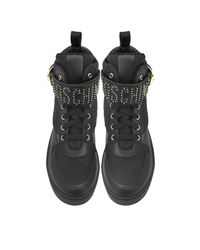 Moschino - Black Quilted Nylon High Top Sneakers - Lyst