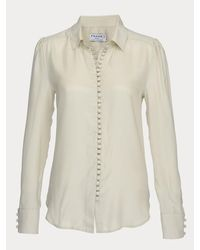 d4c2fcba Frame Victorian Button Up Blouse in Natural - Lyst
