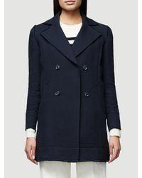 FRAME - Blue Raw Coat - Lyst