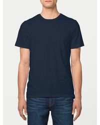 FRAME | Blue Jersey Short Sleeve Crew Neck for Men | Lyst