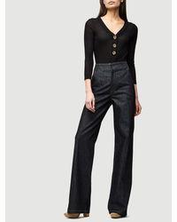 FRAME - Black Rib Bodysuit - Lyst
