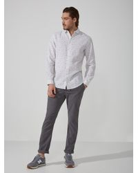 Frank And Oak | Crayon Line Linen-blend Shirt In Bright White for Men | Lyst