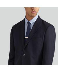 Frank + Oak - White Brushed Brass Clip-on Tie Bar for Men - Lyst