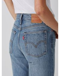Frank And Oak - Levi's Wedgie Fit Ripped Jean In Washed Blue - Lyst
