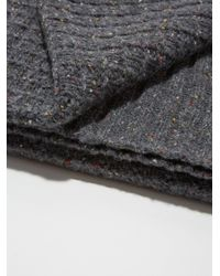 Frank And Oak - Gray Donegal-wool Knit Scarf In Charcoal for Men - Lyst