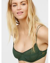 2593ad4b67 Lyst - Free People Cheeky Lace Bra in Green