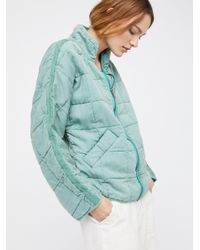 Free People - Blue Dolman Quilted Jacket - Lyst