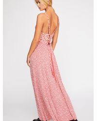 Free People - Red Song Of Summer Maxi Dress - Lyst