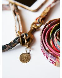 Free People - Metallic Etched Gold Dog Tags - Lyst