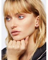 Free People - Brown Double Sided Orbit Studs - Lyst