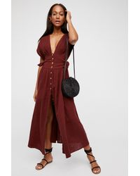 Free People - Red Jacinta Midi Dress By Endless Summer - Lyst