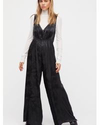 d8b4893736d Free People Zuri Jumpsuit in Black - Lyst