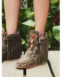 Free People - Multicolor Roseland Moccasin Boot - Lyst