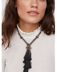 Free People - Multicolor Tiered Tassel Crystal Pendant - Lyst