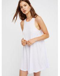 Free People - White La Nite Mini Dress - Lyst